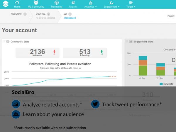 Twitter Analytic Tool SocialBro