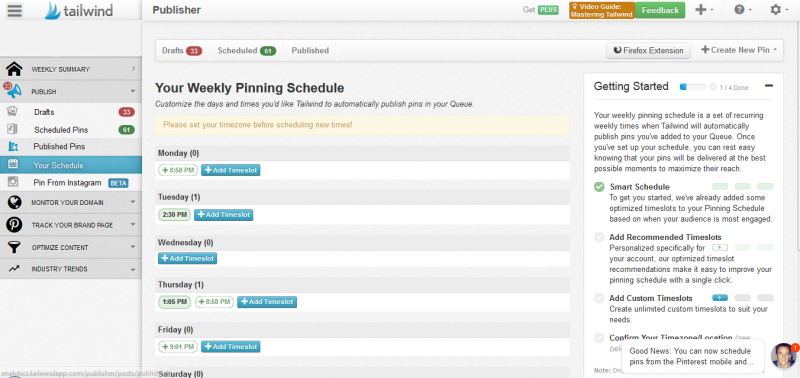 Pinterest Scheduler Tailwind