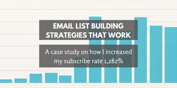 Email list building strategies: A case study on how I increased my subscribe rate 1,282%