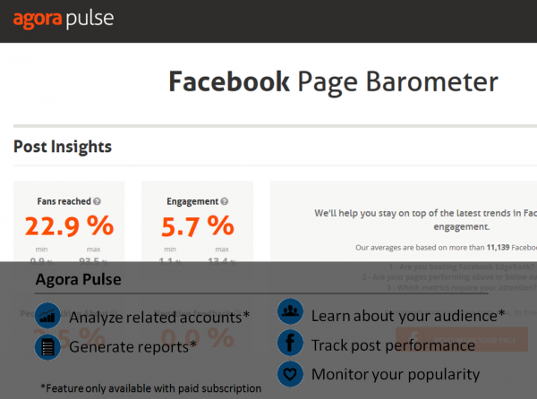 Agora Pulsa Facebook analytic tool