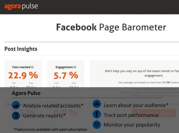 Agora Pulsa Facebook analytic tool