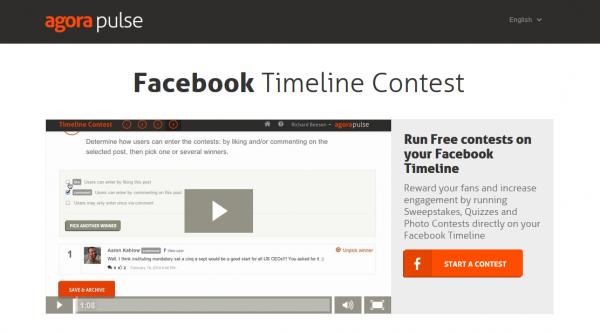 Facebook timeline contest tool