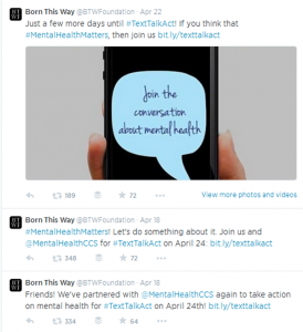 Tweets from the Born This Way Foundation