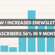 How I increased enewsletter susbcribers 56% in 9 months.