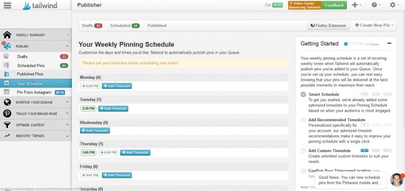 Pinterest Scheduler Tailwind
