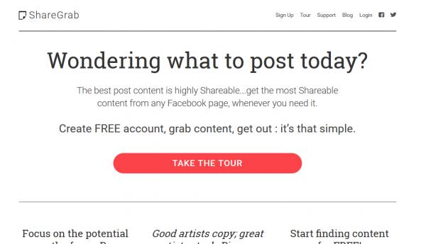 Facebook content grab tool