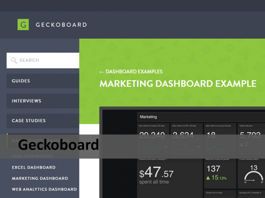 Geckoboard analytic tool