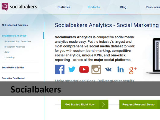 Socialbakers analytic tool