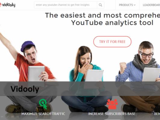 Vidooly YouTube Analytic Tool