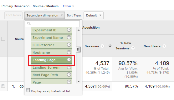 google-analytics-enewsletter-secondary-dimension