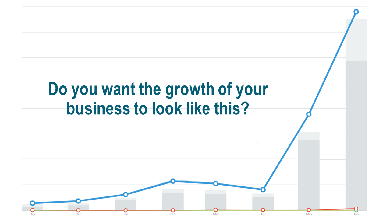 Do you want the growth of your business to look like this?